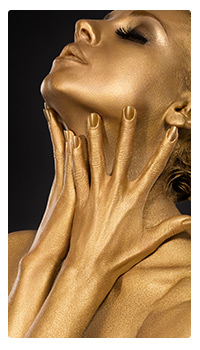 sexy gold woman